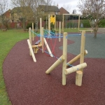Playground Safety Flooring in Balk Field 12