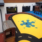Playground Safety Flooring in Budby 10