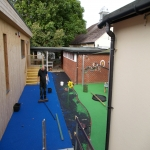Synthetic Turf Playground in Ashton 9
