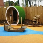 Synthetic Turf Playground in Bramley Head 1