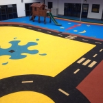 Daily Mile Play Flooring in Abbotsley 1