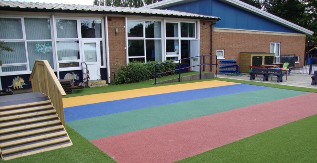 Artificial Grass Playground Surface in Lower Breakish/Brecais Iosal