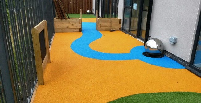 Coloured EPDM Safety Flooring in Acrefair
