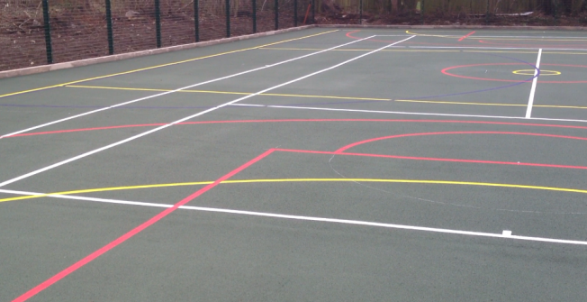 Multi-Sports Court in Blue Anchor
