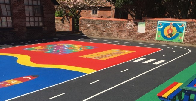 Daily Mile Playground Surfaces in Abbotsley